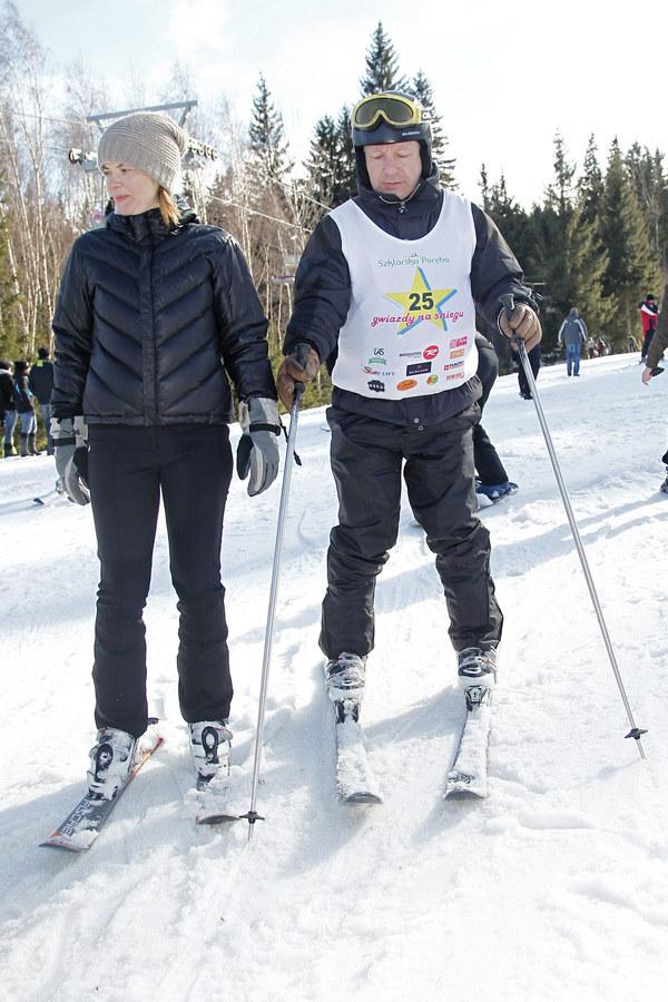 Monika i Zbyszek na nartach /- /AKPA