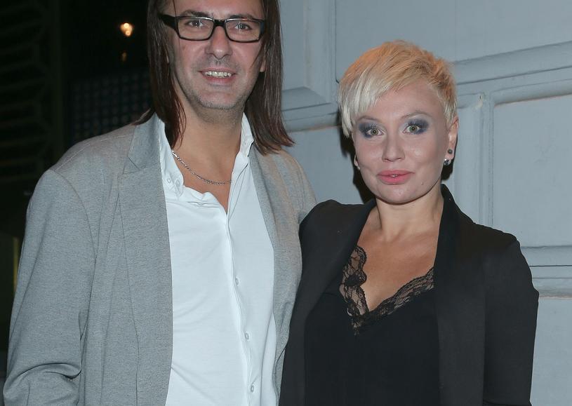 Monika Jarosińska z mężem /Paweł Wrzecion /MWMedia