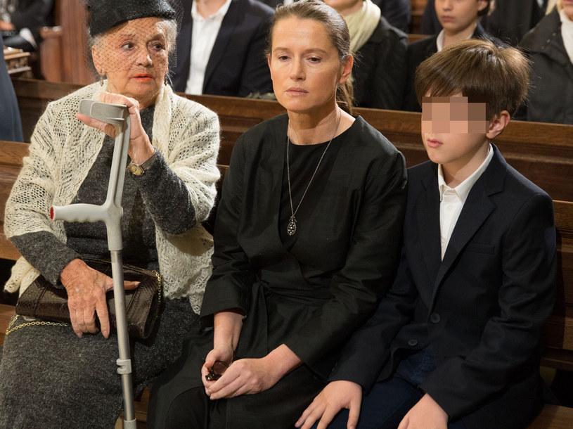 Monika Jaruzelska z mamą i synem /fot. Andrzej Iwanczuk /Reporter