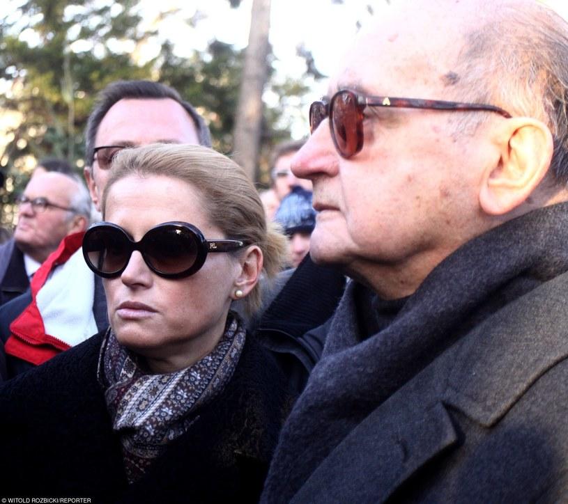 Monika Jaruzelska z ojcem /Witold Rozbicki/REPORTER /East News