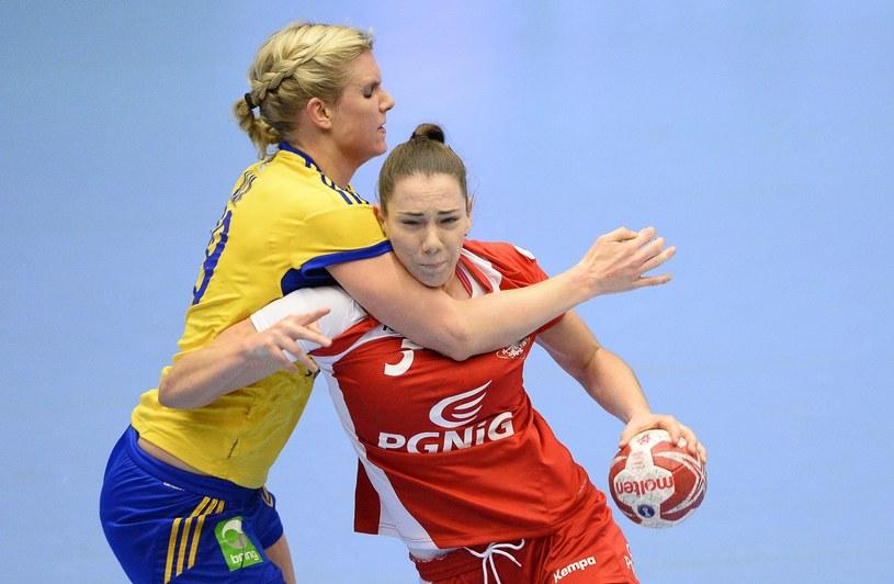 Monika Kobylińska w meczu ze Szwecją podczas MŚ w Danii /AFP