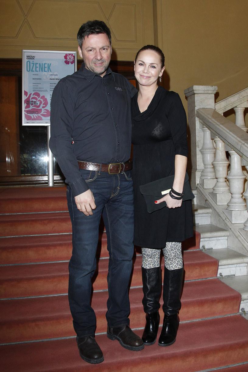 Monika Krzywkowska z mężem Marcinem /Engelbrecht /AKPA