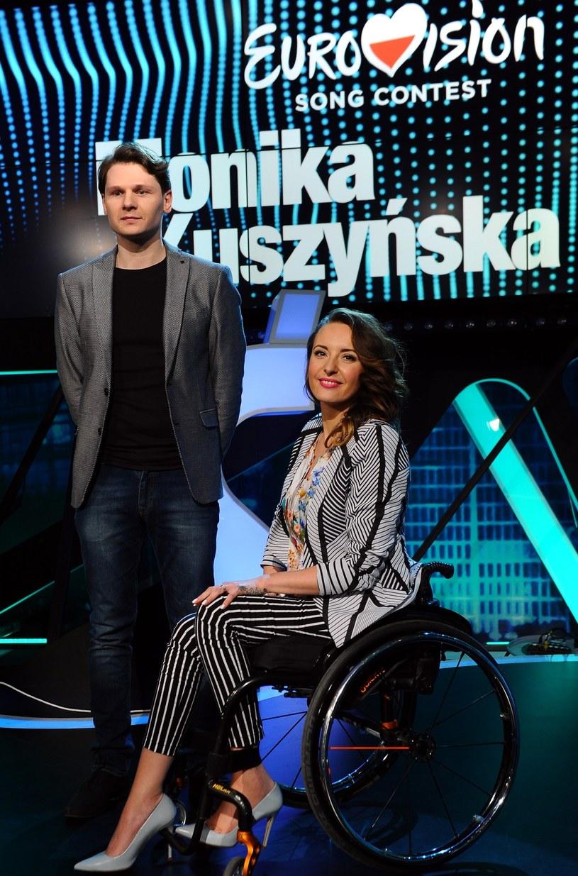 Monika Kuszyńska z mężem Kubą /Mieczysław Włodarski /Reporter