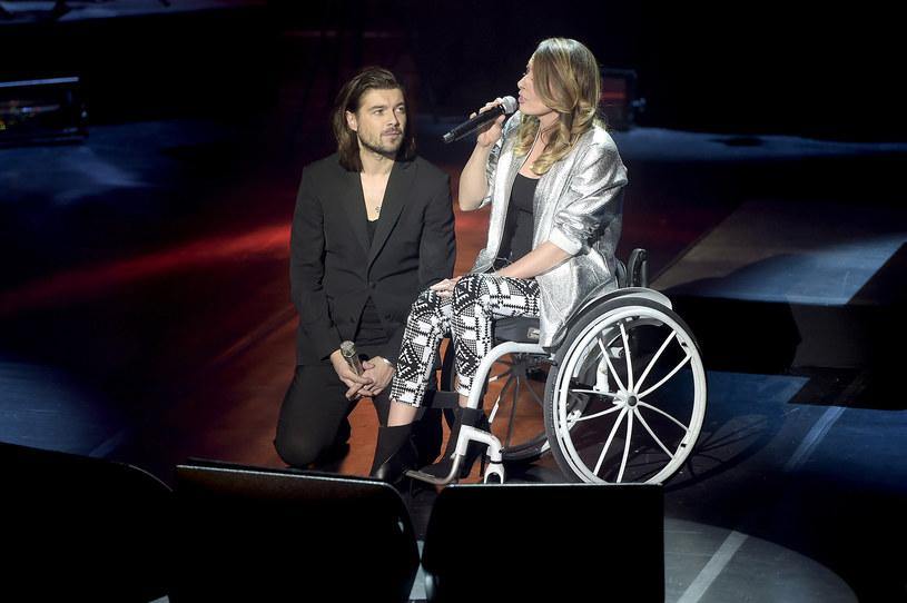 Monika Kuszyńska z wokalistą zespołu Pectus /Mieszko Pietka /AKPA