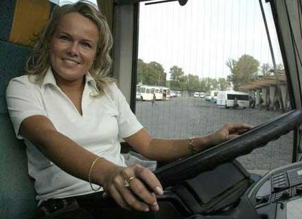 Monika Maj - pierwszy rejsowy kierowca kobieta, fot. Pacewicz /Agencja SE/East News