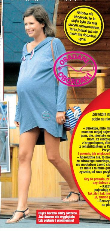 Monika Mrozowska w zaawansowanej ciąży /Twoje Imperium