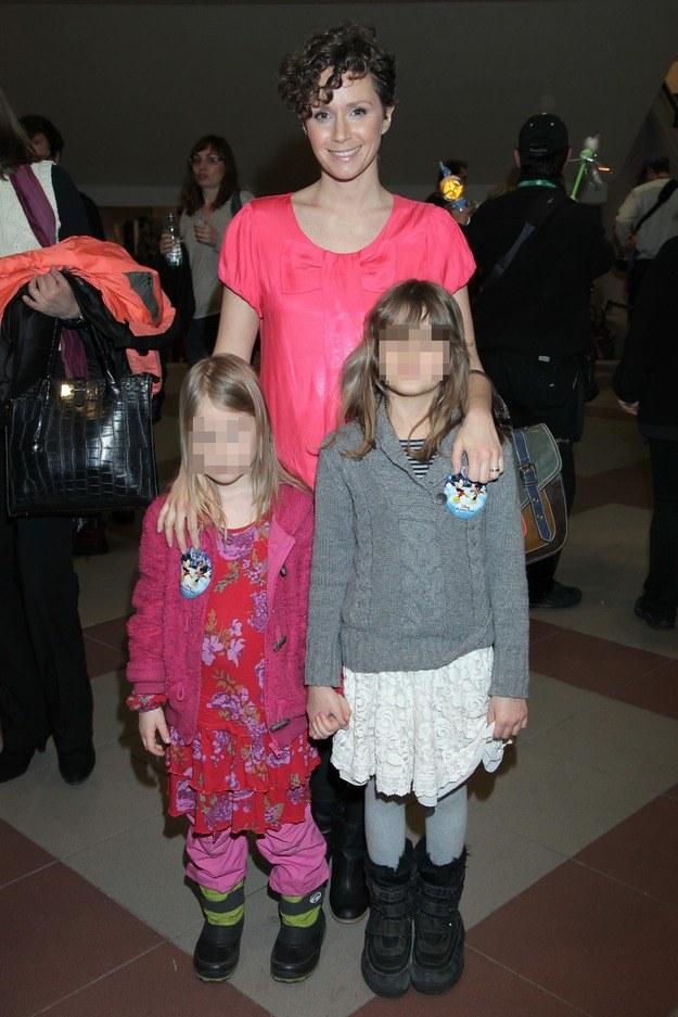 Monika Mrozowska z córkami /MWMedia