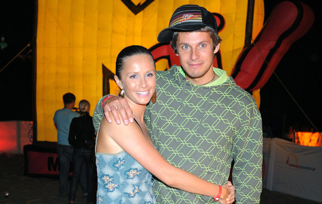 Monika Mrozowska z mężem, fot. Andrzej Szilagyi  /MWMedia
