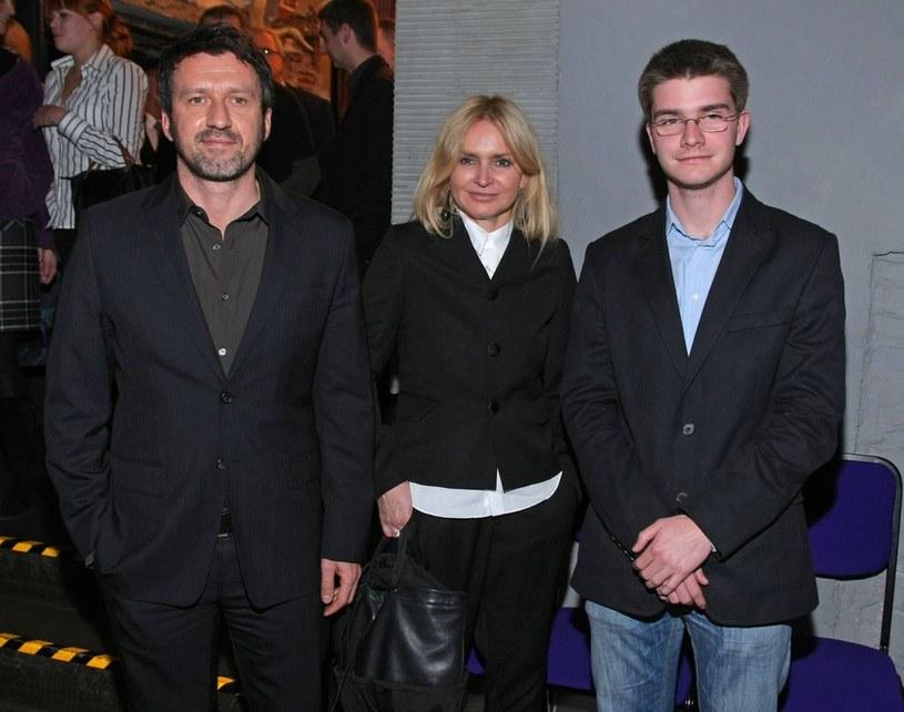 Monika Olejnik z partnerem Tomkiem i synem Jerzym /Sylwia Teresa /Reporter