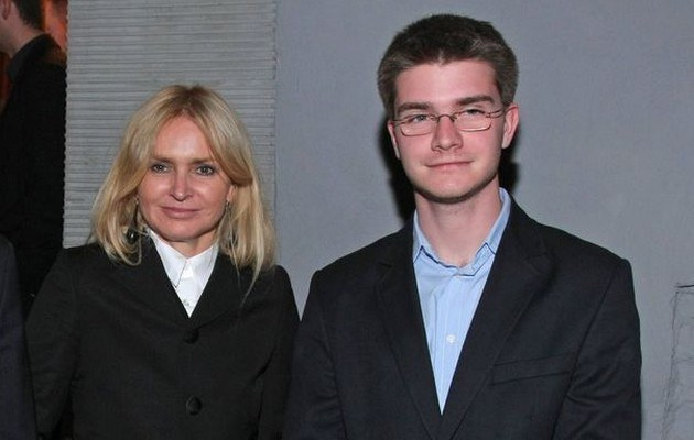 Monika Olejnik z synem /- /East News
