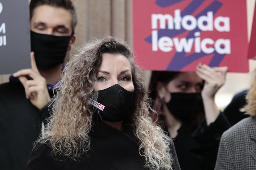 Monika Pawłowska jeszcze z czasów, gdy sympatyzowała z Lewicą /Piotr Molecki /East News