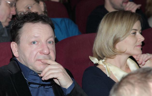 """Monika Richardson i Zbigniew Zamachowski na pokazie filmu """"Rzeź"""" /Paweł Wrzecion /MWMedia"""