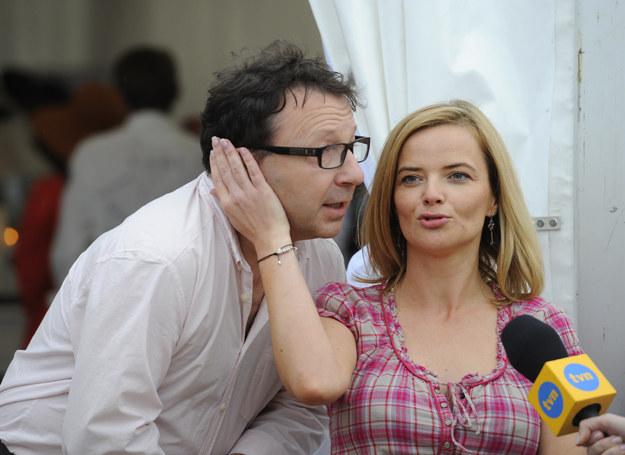 Monika Richardson i Zbigniew Zamachowski /Jarosław Antoniak /MWMedia