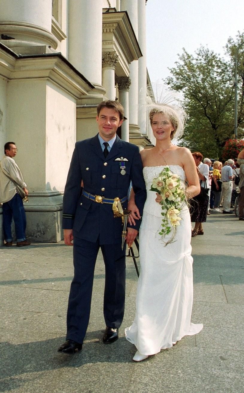 Monika Richardson w dniu ślub, 2001 r. /Filip Ćwik /Reporter