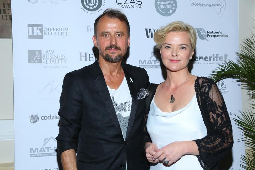 Monika Richardson z nowym partnerem, Konradem Wojterkowskim /Pawel Wodzynski/East News /East News