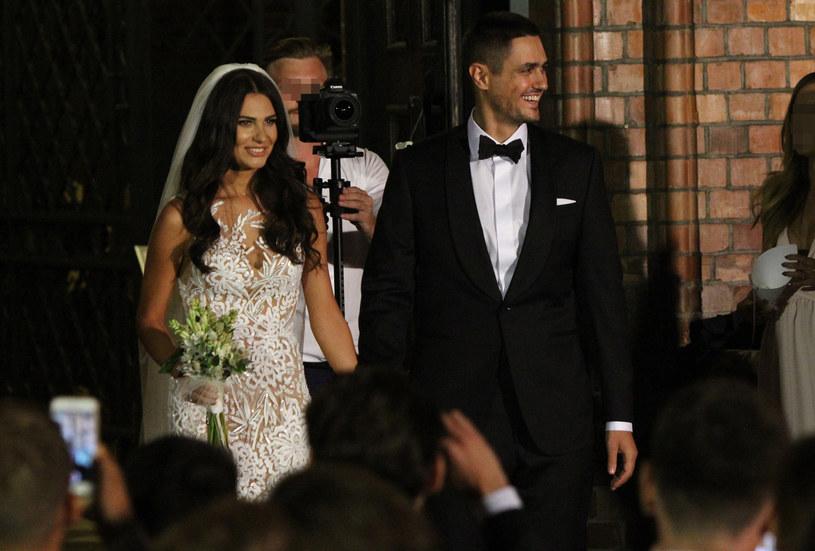 Monika Suchocka i Tobiasz Solorz w dniu ślubu /Foto IP