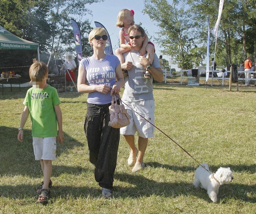Monika (wówczas) Richardson i Jamie Malcolm z dziećmi, 2010 rok / Engelbrecht /AKPA