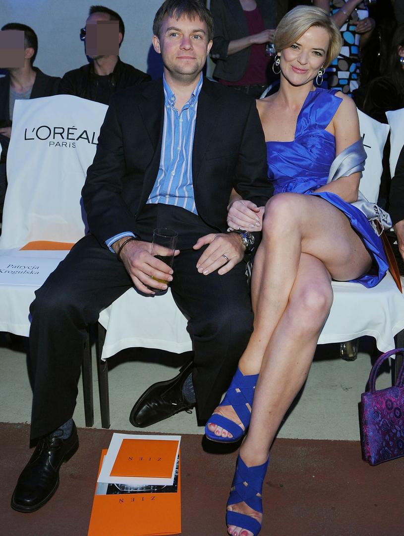 Monika z byłym mężem /Piotr Fotek /Reporter