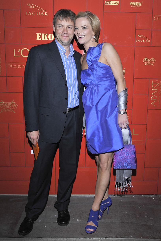 Monika Zamachowska i Jamie Malcolm, 2009 rok /Kurnikowski /AKPA