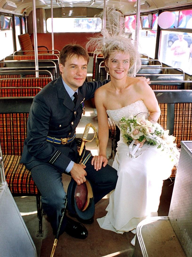 Monika Zamachowska i Jamie Malcolm w dniu ślubu /Filip Ćwik /Reporter