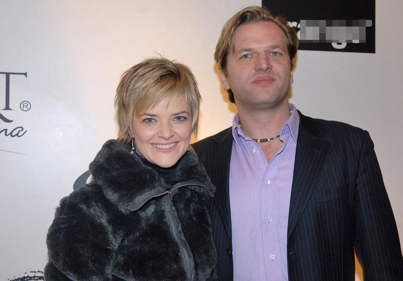 Monika Zamachowska z bratem Filipem, 2006 r. /East News
