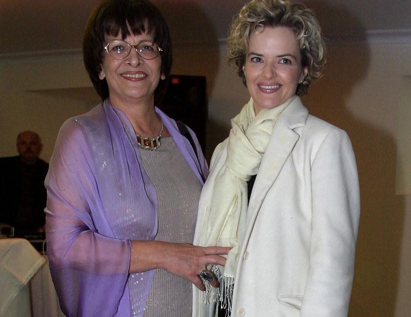 Monika Zamachowska z mamą (2004 r.) /Piotr Fotek /Reporter