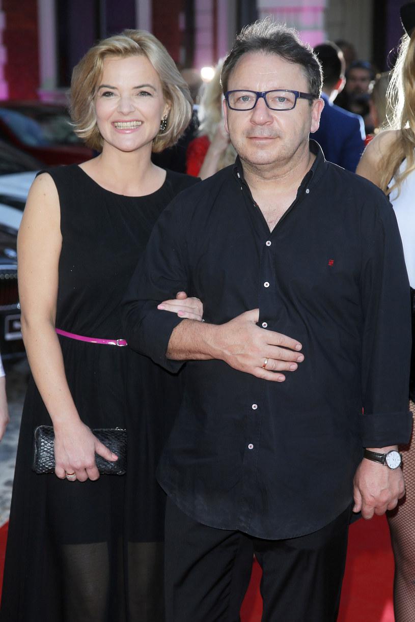 Monika Zamachowska z obecnym mężem Zbyszkiem Zamachowskim /Baranowski /AKPA