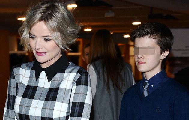 Monika Zamachowska z synem /- /MWMedia