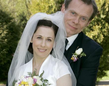 Monika Zybert (Jolanta Fraszyńska) i doktor Krzysztof Jędras (Andrzej Bienias) /AKPA