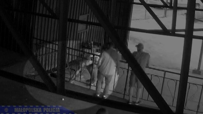 Monitoring nagrał, jak 30-latek uśmiercił kota /Małopolska Policja /Archiwum