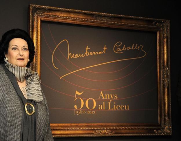 Montserrat Caballe w tym roku na 50-leciu Teatru Wielkiego Liceu w Barcelonie /AFP