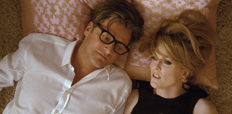 """Moore u boku Colina Firtha w dramacie """"Samotny mężczyzna"""" /materiały dystrybutora"""