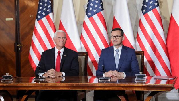 Morawiecki i Pence podpisali deklarację ws. bezpieczeństwa sieci 5G