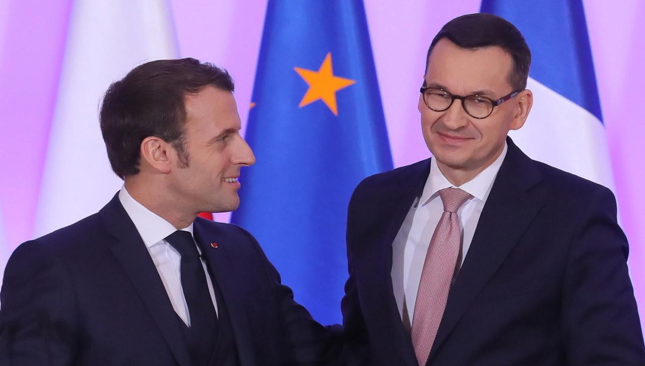 Morawiecki po spotkaniu z Macronem: Ta wizyta jest przełomowa