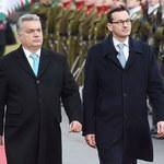 Morawiecki przybył na Węgry. Polski premier wykonał symboliczny gest