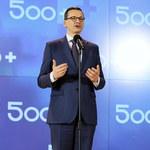 Morawiecki: Rząd przyjął projekt rozszerzenia 500+ na pierwsze dziecko