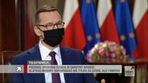 """Morawiecki w """"Gościu Wydarzeń"""" o paszportach szczepień: Przyglądamy się najlepszym praktykom"""