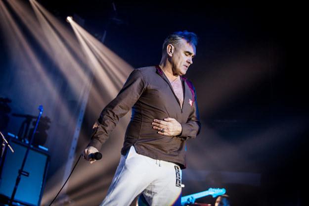 Morrissey podczas niesławnego koncertu w Warszawie /fot. Marcin Bąkiewicz/mfk.com.pl