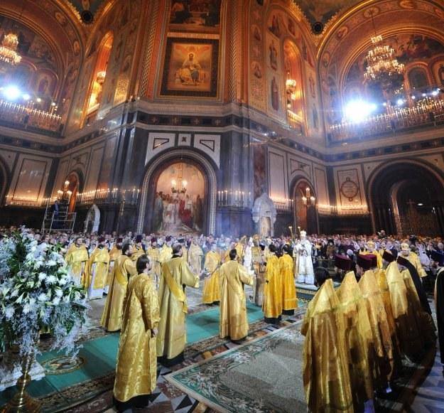 Moskwa: Obchody w świątyni Chrystusa Zbawiciela /AFP