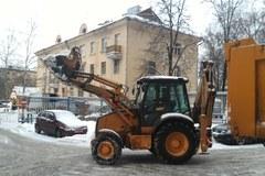 Moskwa pod śniegiem. Zaspy, zasypane samochody i chodniki