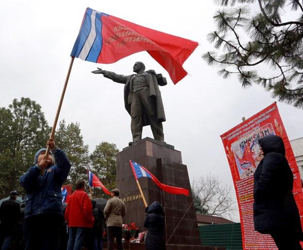 Moskwa podczas 100 rocznicy puczu bolszewików /IGOR KOVALENKO /PAP/EPA