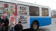 Moskwa: Specjalny pojazd sławiący 100-lecie odzyskania niepodległości przez Polskę