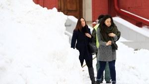 Moskwa zasypana śniegiem