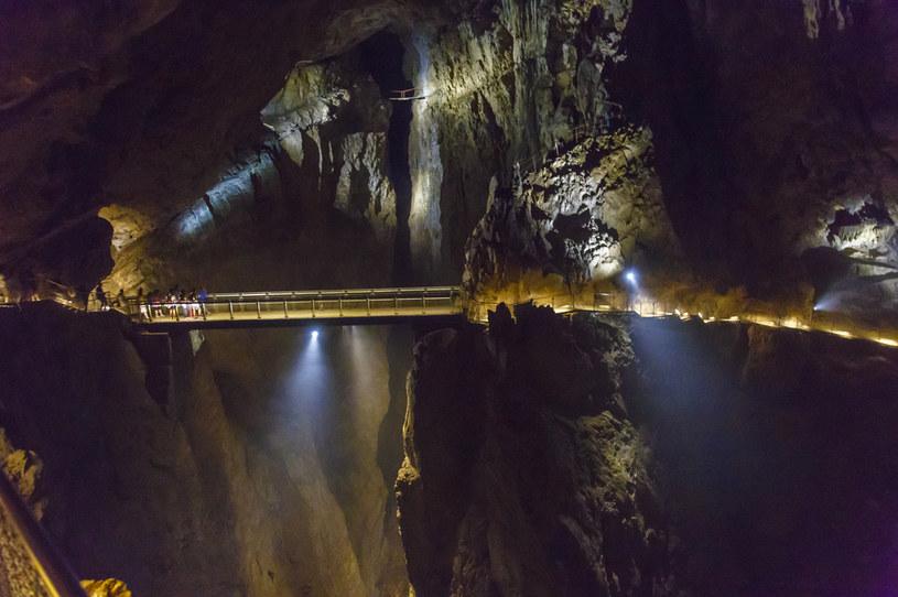 Most Cerkvenik zawieszony jest nad kanionem na wysokości 50 metrów. To jedna z najsłynniejszych atrakcji w Jaskiniach Szkocjańskich /VW Pics