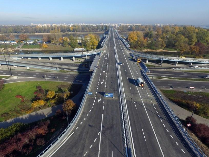 Most Łazienkowski z lotu ptaka /Maciej Gillert/Media Picture /East News