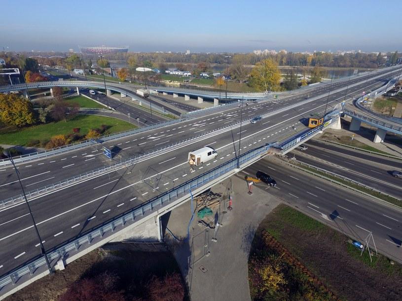 Most Łazienkowski z lotu ptaka /Maciej Gillert /East News