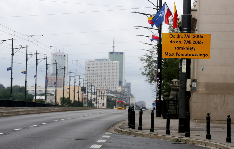 Most Poniatowskiego zamknięty /Paweł Supernak /PAP