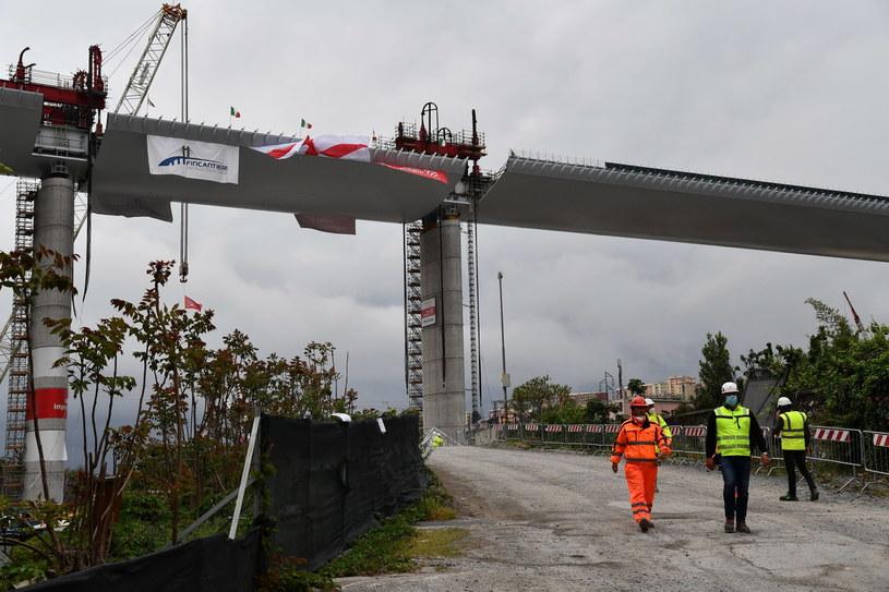 Most w Genui zawalił się 14 sierpnia 2018 roku /EPA/LUCA ZENNARO  /PAP/EPA