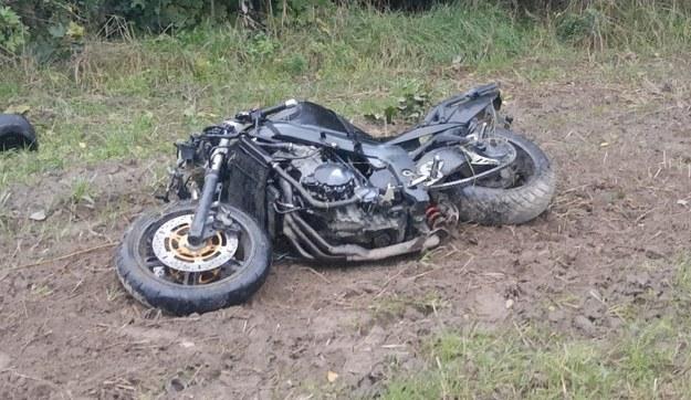 Motocykl, którym jechał 33-latek /Policja