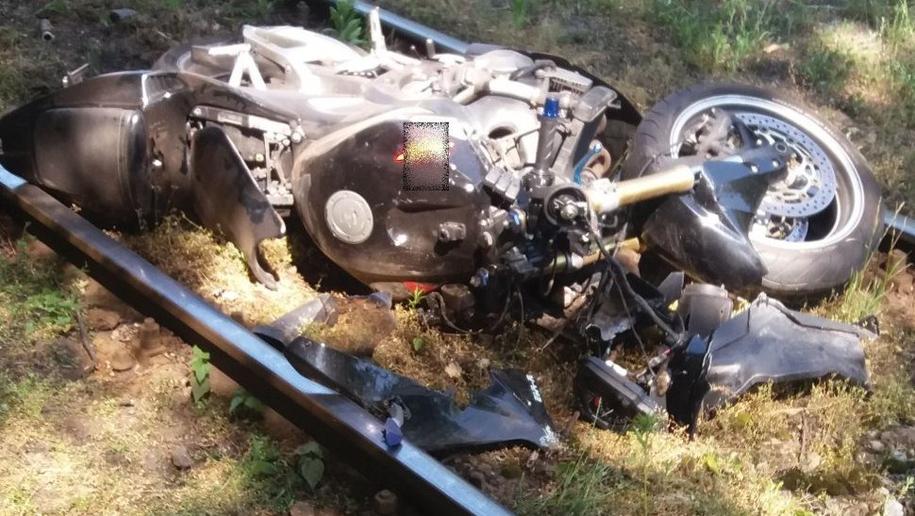 Motocykl, którym została śmiertelnie potrącona kobieta /KMP w Sosnowcu /Policja